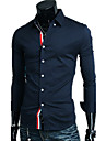 för män skjortkrage kontrastfärg långärmad skjorta