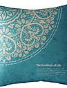 1 pcs Coton/Lin Housse de coussin,Fleur Moderne/Contemporain