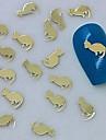 200pcs chat doré art tranche design en métal de décoration des ongles