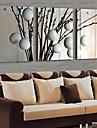 LED Artă Pe Pânză Floral/Botanic Tradițional Clasic,Trei Panouri Orizontal print Arta Decor de perete For Pagina de decorare
