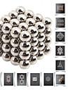 64pcs buckyballs DIY 5mm și buckycubes blocuri magnetice bile jucarii de argint