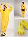 Pijama Kigurumi cu Papuci Pika Pika Pijama Întreagă Costume Coral Fleece Galben Cosplay Pentru Sleepwear Pentru Animale Desen animat