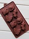 8 gaura matrite de ciocolata forma de melc omidă tort de gheață jeleu, silicon 19.2 × 10.6 × 2 cm (7,6 × 4,2 × 0,8 inch)