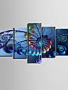 toile set Abstrait Classique Moderne,Cinq Panneaux Horizontale Imprimer Art Decoration murale For Decoration d\'interieur