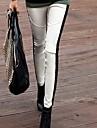 Talie Medie, Micro-elastic Skinny Pantaloni Poliester Bloc Culoare Iarnă Primăvară Toamnă