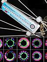 Cykling 32 LED 32 Mönster Vattentät Färgglada cykel / cykel Wheel Spoke Ljus
