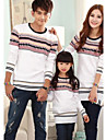 Family's Fashion And Joker Parents Children Bohemia Pattern Round Collar Sweater