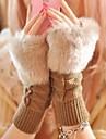 Damă Iarnă Draguț Casual Blană Artificială Îmbrăcăminte tricotată Fără Degete