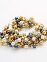 kl Wonen bohemiska pärla tofsar elegant armband