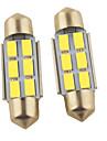 2pcs 36mm Automatique Ampoules électriques 1.2W SMD 5630 6