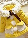 Fete Căptușit Bumbac Floral Iarnă Toamnă Manșon Lung Galben Fucsia Roz