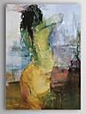 Peint à la main Personnage Verticale,Classique Traditionnel Un Panneau Peinture à l'huile Hang-peint For Décoration d'intérieur