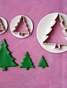Modele 3pcs pentru pomul de Crăciun tort stamper fondantă