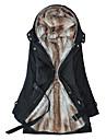 moda blană ocazional interior haină lungă de bumbac