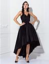 Rochie de bal spaghete curele asfalt taffeta cocktail petrecere rochie de balet rochie cu draperii de ts couture®