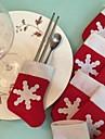 6pcs / set Crăciun zăpadă de stocare tacâmuri titular tacamuri pentru decorațiuni interioare