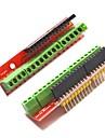 skruv sköld expansionskort v2 terminal styrelser för Arduino - röd (2 st)