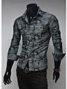 cămașă bărbați manlodi lui camuflaj moda Slim-montaj