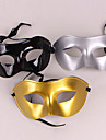 sval halv ansikte pvc unisex halloween party mask (slumpvis färg)