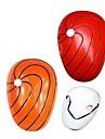 Mască Inspirat de Naruto Akatsuki Anime Accesorii Cosplay Mască Roșu / Oranj PVC Bărbătesc