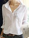 Women's Turn Down Collar Basic Shirt
