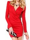 Women's Deep V-Neck Long Sleeve Mini Dress (More Colors)