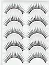 Rzęsa Sztuczne rzęsy 10 pcs Większa objętość Natutalne Curly Włókno Codzienny Naturalna długość - Makijaż Makijaż codzienny Kosmetyk Akcesoria do czesania