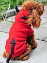 Katt Hund Dräkter/Kostymer Huvtröjor Hundkläder Gulligt Jul Nyår Ängel & Djävul Röd Kostym För husdjur