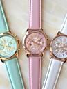 Pentru femei Quartz Ceas de Mână Ceas Casual PU Bandă Elegant / Modă Alb / Albastru / Pink