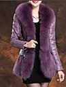 moda din piele de capra elegant exterioare blană de vulpe femei (mai multe culori)