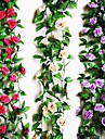 Flori artificiale 1 ramură Pastoral Stil Trandafiri Față de masă flori