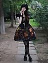 O piesă Rochii Lolita Stil Gotic lolita Cosplay Rochii Lolita Imprimeu Peteci Manșon scurt Rochie Pentru