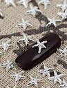 50st silver metallic lysande stjärna nagel konst legering smycken spik tips vernish manikyr dekorationer