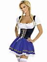 bavareză Chelneriţă Oktoberfest Costume Cosplay Pentru femei Halloween Oktoberfest Festival / Sărbătoare Costume de Halloween Peteci
