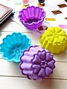 tort formă crizantema mucegai ciocolată jeleu mucegai gheață, silicon 9,5 × 7 × 4,5 cm (3,7 × 2,8 × 1,8 inci)
