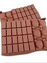 30 de sonde de matrite de ciocolata formă de urs zăbrele tort de gheață jeleu, silicon 18 × 12,5 × 2 cm (7,1 × 4,9 × 0,8 inci)