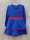 Fata lui Albastru / Roșu Solid Bumbac Toamnă / Primăvară Albastru / Roșu