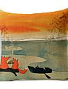 1 buc Bumbac/In Față de pernă,Imprimeu Animal Stiluri de Plajă
