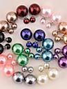 Dame Cercei Stud Perle Imitație de Perle Reșină Perle Gri Perle Roz Gold Pearl Perlă neagră Bijuterii Pentru Nuntă Petrecere Zilnic