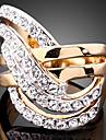 Inele Afirmatoare Zirconiu Cubic Placat Auriu imitație de diamant 24K Plated Gold Aliaj La modă Culoare ecran Bijuterii Petrecere 1 buc