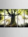 Landskap Moderna, Fem paneler Vertikal Tryck väggdekor Hem-dekoration