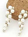 masoo kvinnors heta säljande pärla diamantörhängen