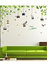 väggdekorationer väggdekaler, trädfoto klistermärke pvc väggdekorationer