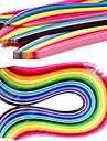 400pcs 3mmx53cm Quilling hârtie (buc x10 40 culori / culoare) ambarcațiunile DIY decorare artă