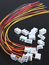 xh2.54-3p enkelt hoved tråd med wire terminaler (10stk)