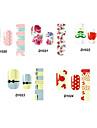 14pcs belle no.20-24 style cartoon Stricker nail art de la série D (modèle assortis)
