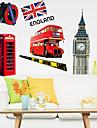 mediu bucată DIY amovibil din Londra autocolant perete pvc