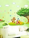 avtagbar lilla trädet och bära mönster vardagsrum / sovrum vägg klistermärke