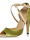 latin anpassnings kvinnors sandaler anpassnings häl satin buckie dansskor (fler färger)