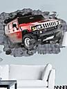 Pauza de mediu masina 3d prin perete proiectat de perete autocolant